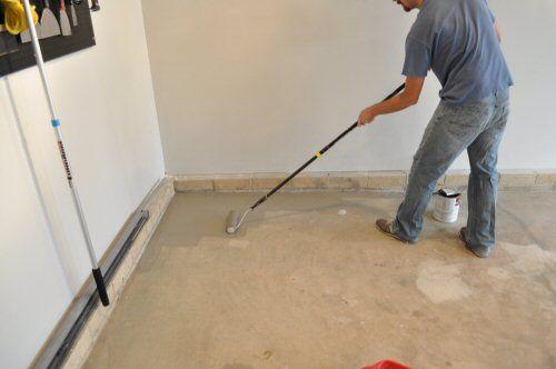 How to paint an Epoxy concrete floor coating