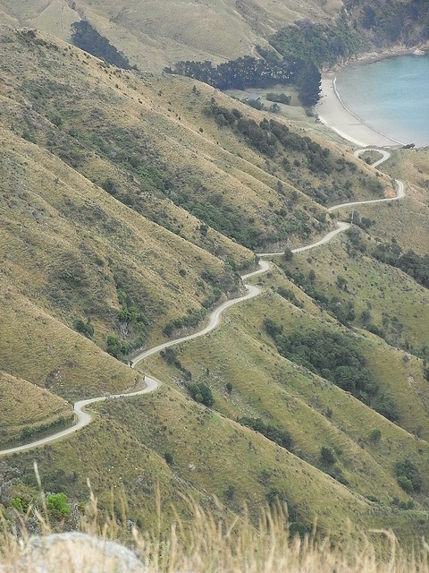 Road to Titrangi Bay, Marlborough Sounds NZ by space lama, via Flickr