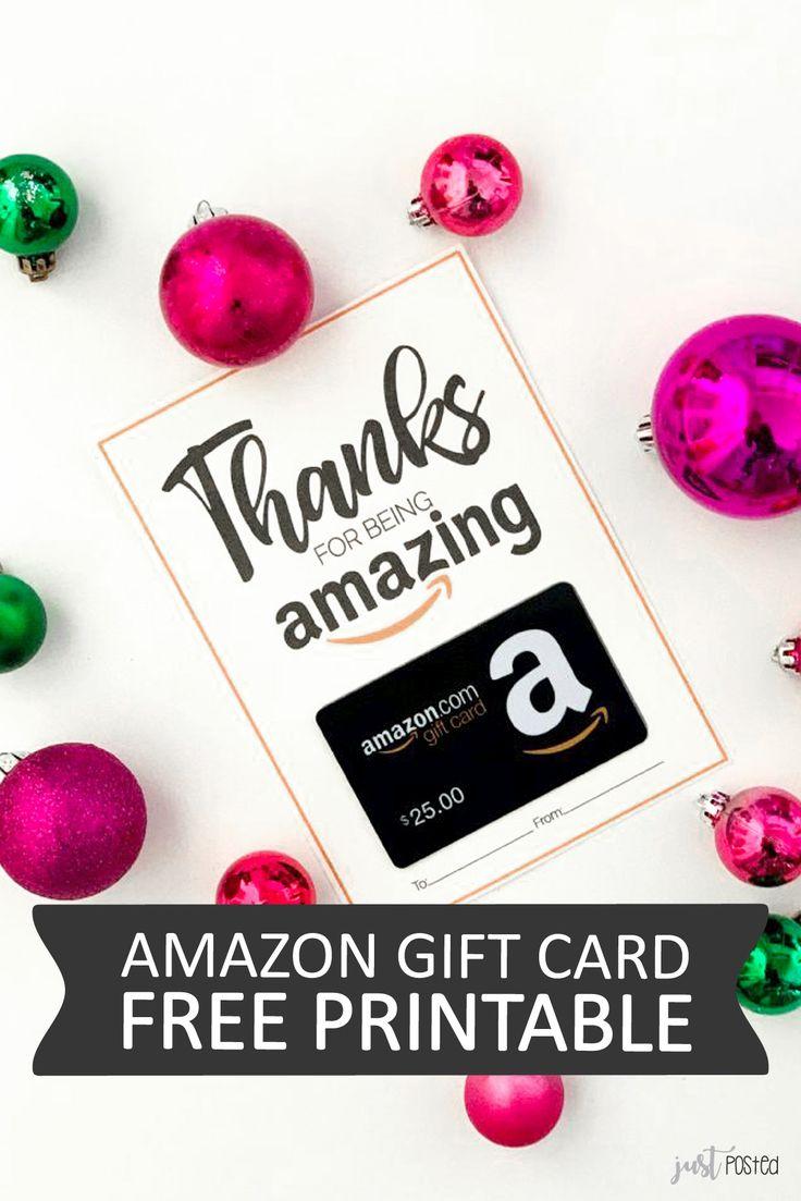 Free Amazon Gift Card Printable – Great Gift Card Idea – Teacher Appreciation