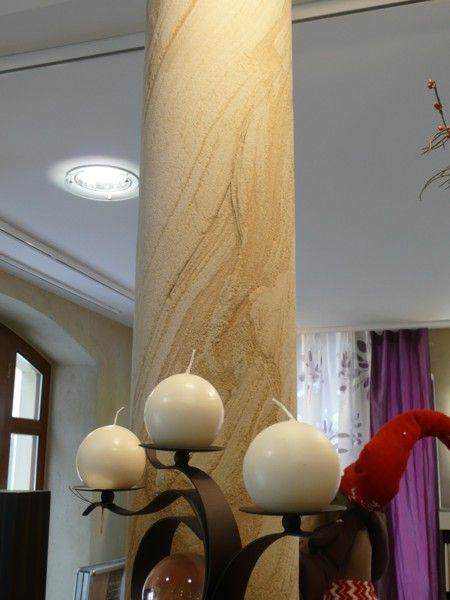 pilar revestido de pedra flexível
