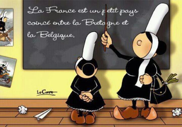 """""""La France est un petit pays coincé entre la Bretagne et la Belgique"""". J'adore !"""