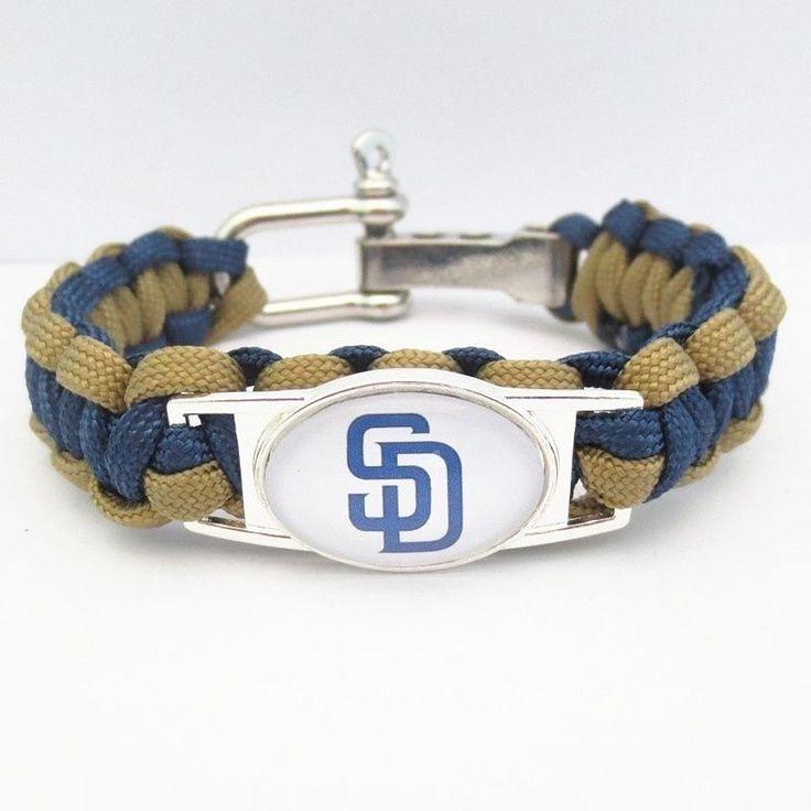 MLB San Diego Padres Paracord Survival Baseball Team Bracelet National League