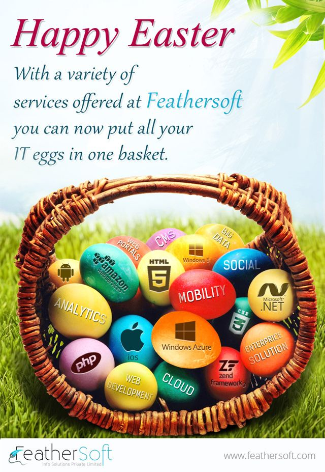 Fethersoft wishing its Social media fans on Easter