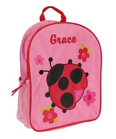 Another great find on #zulily! Pink Ladybug Personalized Backpack #zulilyfinds