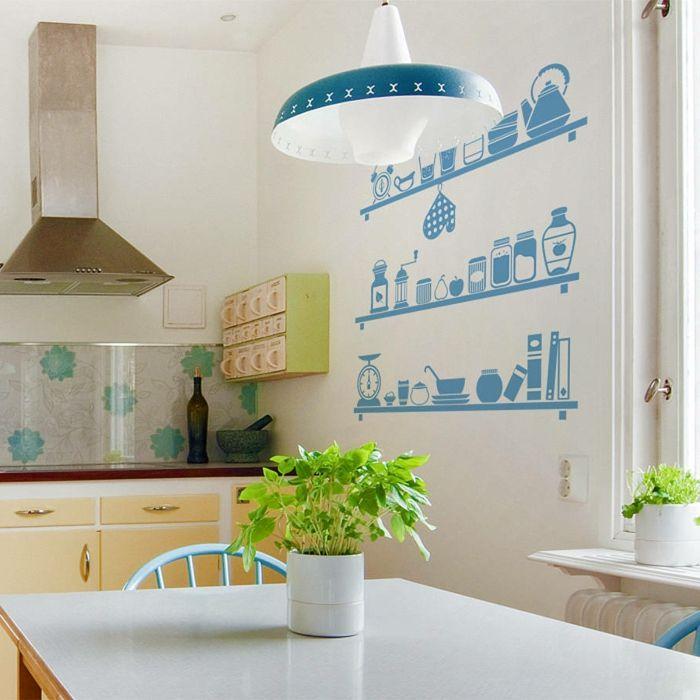 Die besten 25+ Blaue küchentapete Ideen auf Pinterest - kchen tapezieren ideen