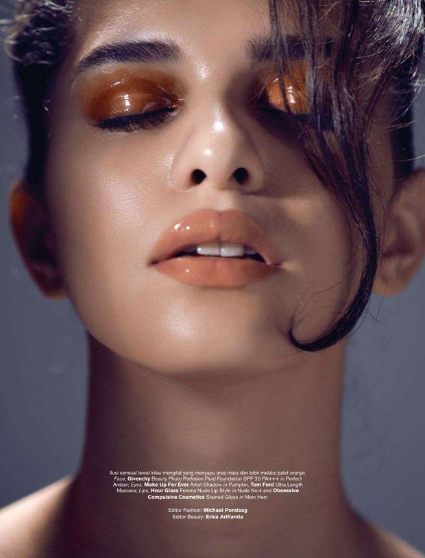 Into The Gloss by Glenn Prasetya for Bazaar Indonesia. Makeup by Adrian Suryapradipa.