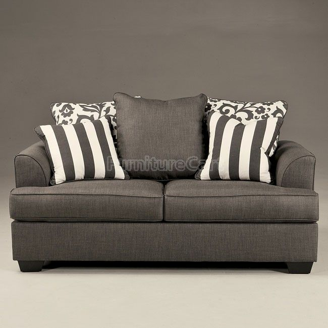 Levon Charcoal Loveseat Signature Design 7340335 | Furniture Cart