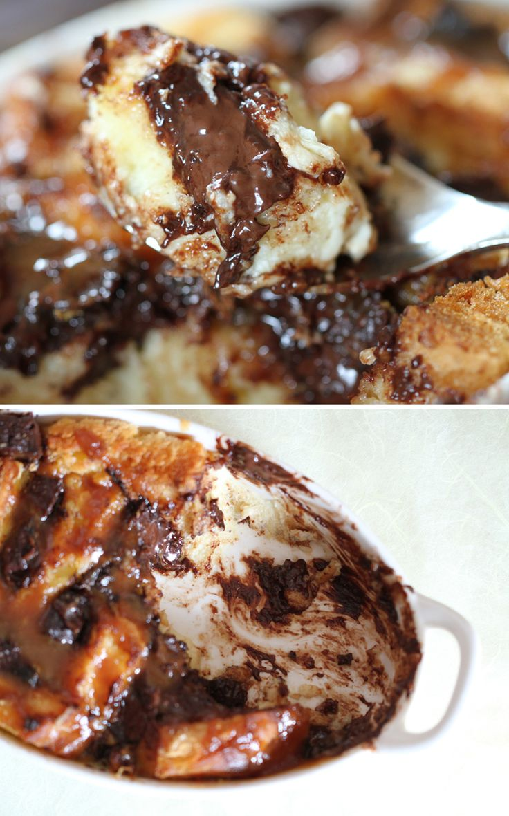 Individual Orange & Chocolate Bread Puddings Recipe — Dishmaps