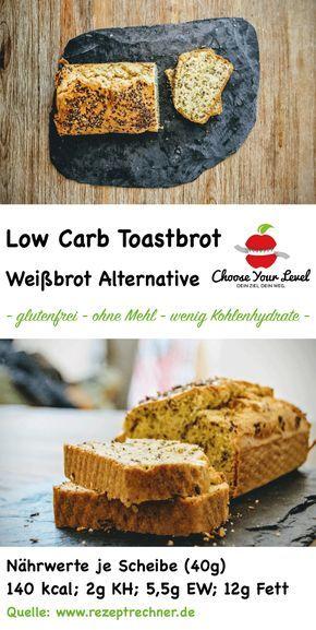 Low Carb Weißbrot - toastbrot alternative zu normalen brot - wenig kohlenhydrate - glutenfrei Zutaten: 150g Mandelmus (weiß) 6 Eier 50g Kokosöl 10-30g Xylit 30g Leinsamen 50g Kokosmehl 1 TL Weinsteinbackpulver (oder normales Backpulver) 1/2 TL Salz zum Bestreuen: 10g Leinsamen (geschrotet)
