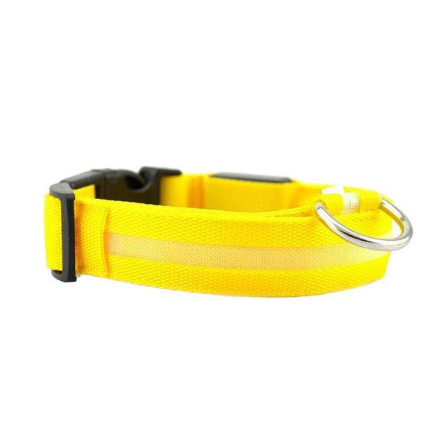 Night Safety LED Dogs Collar,Nalon Lights Flashing Glow In Dark Electric Pet Coolars,7Colors Pet Supplies Dog Cat Leash
