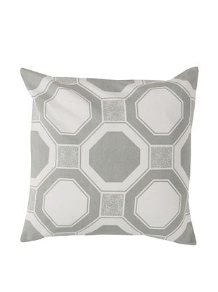 65% OFF Surya Geometric Throw Pillow, Whisper White