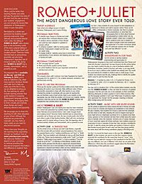 an analysis of the modern movie version of romeo and juliet When shakespeare wrote romeo and juliet, he did not aim for making it a movie so no music was ever intended baz luhrmann added music to make the movie more modern and suitable for the 1996 audience the music enhances the mood and atmosphere by interpreting what is going to happen next.