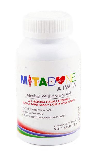 Mitadone Alcohol Withdrawal Aid All Natural Formula Helps Eliminate Cravings,Symptoms & Helps you Quit & Calms your nerves.  If you have a long-term alcohol issue or are a regular binge drinker and want to get back to the healthy zone or completely quit,its recommended to use MITADONE Alcohol Withdrawal Aid . It