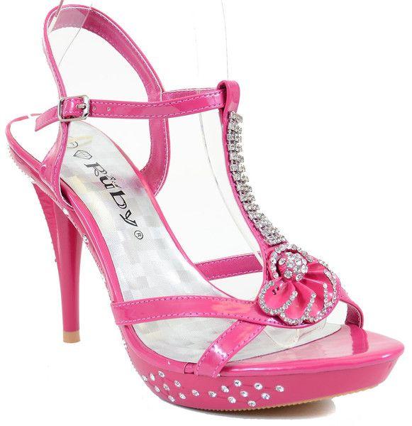 Flower Open Toe Rhinestone Strappy Stiletto High Heel Sandal Shoe