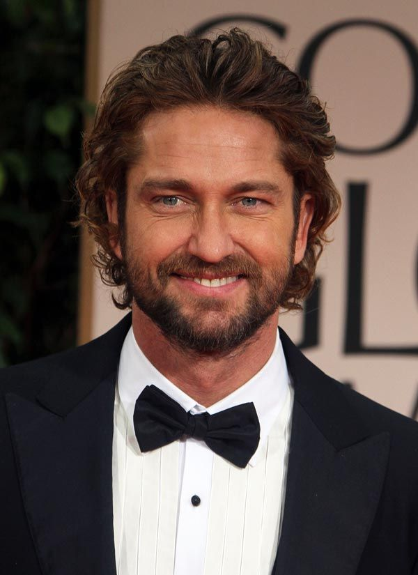 Gerard Butler in all his shaggy glory