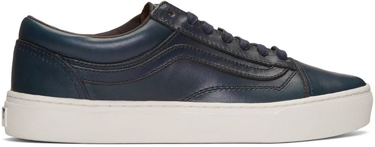VANS Baskets Bleu Marine Old Skool Cup Lx Édition Horween. #vans #shoes #édition