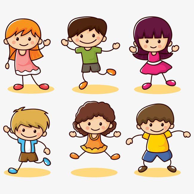 أطفال مجموعة سعيد قصاصات فنية مرسومة باليد صبي Png وملف Psd للتحميل مجانا Kids Vector Kids Cartoon Characters Drawing Videos For Kids