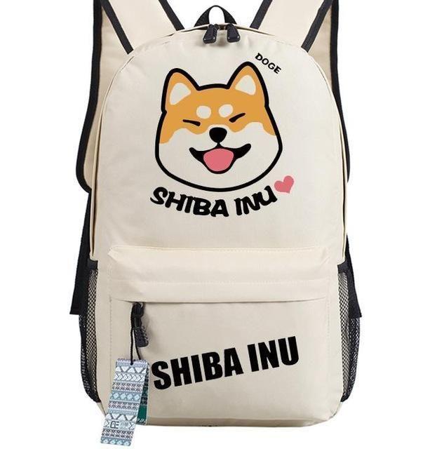 NEW funny cartoon Shiba Inu Kawaii Doge backpack Printed funny Emoji dog Teenage Girl Backpacks women men shoulder travel bag