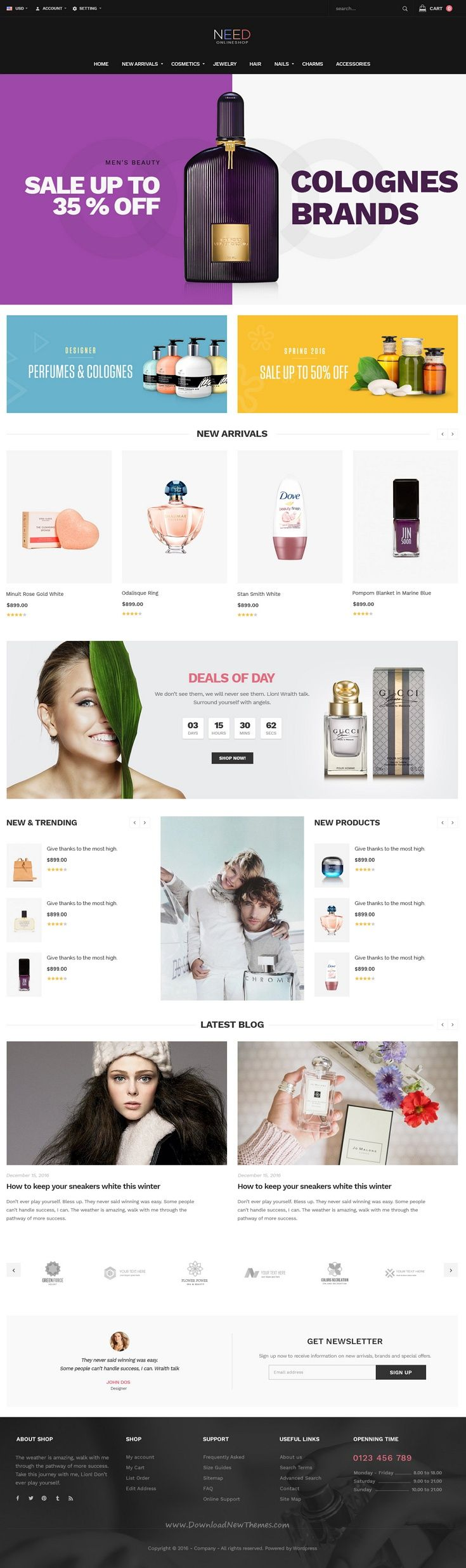 NeedShop is Responsive Flexible #Shopify Theme. It is an ideal theme designed for any kinds of shop such as Fashion, Cosmetics, Jewelry, #Nails, Perfume, Glasses..ect #webdesign