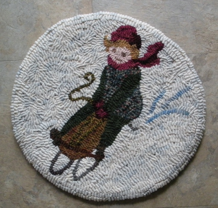 Joan Hull Strausbaugh Chair pad I created using your clip art from various sources – I own at least one hundred of your books. I donate them to my church bazaar, or give them as gifts. Traditional rug hooking is my passion, and I use various widths of dyed wool strips to fulfill your designs.