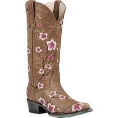 Boots for spring?  I like the pink embroidered floral design