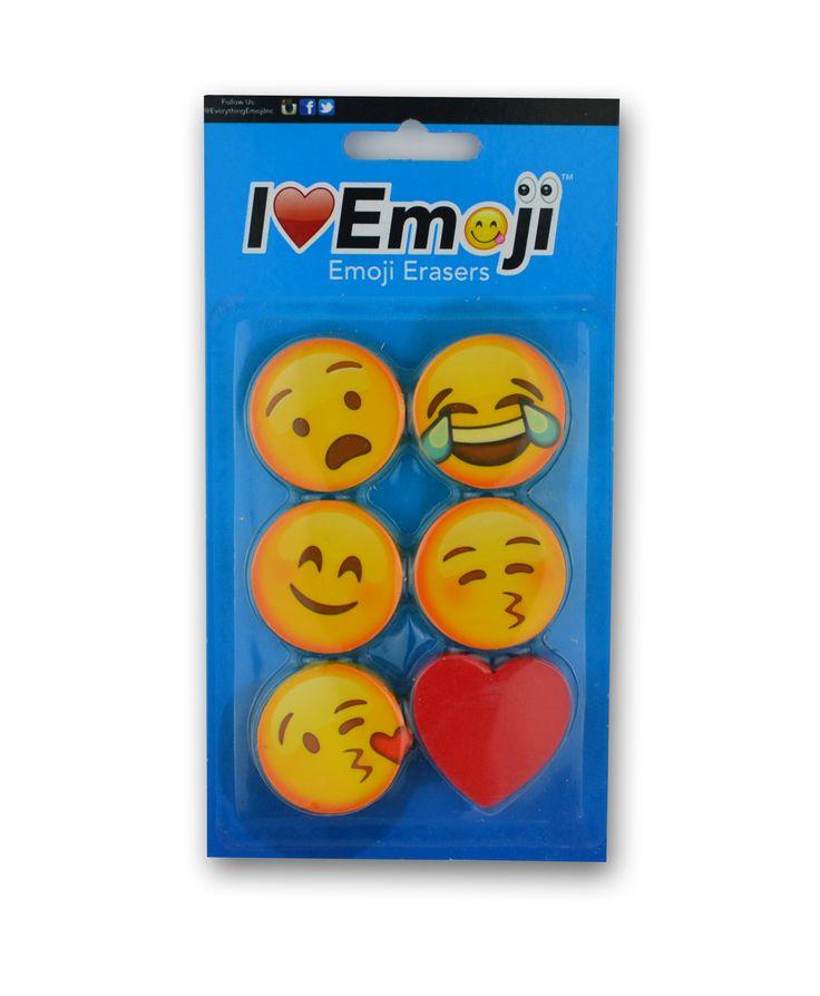 Emoji Custom Shape Erasers (Set 5)