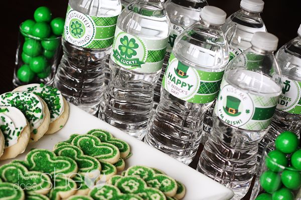 St. Patrick's Day PrintablesWater Bottle, Bottle Labels, Stpatricksday, Free St, St Patricks Day, Parties Ideas, St Patti, Parties Printables, Free Printables