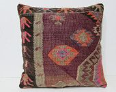 24x24 kilim pillow southwestern euro sham cushion cover large pillow case large pillow kilim large pillowcase 24 inch pillow cover red 26433