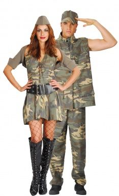 Disfraz de pareja de militares