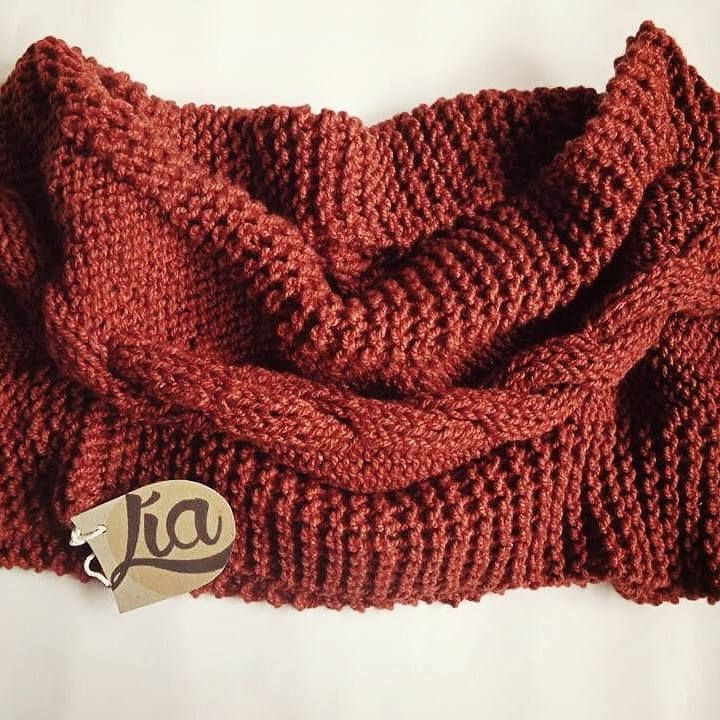 Scarf red #scarf #knit #fashion #handcraft #red #cuello