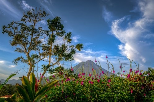 Clear view of the Arenal Volcano, La Fortuna, Costa Rica - want to go back!