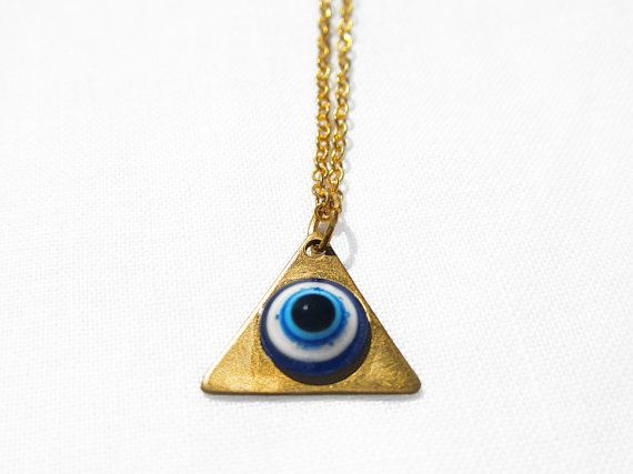 All Seeing Eye Necklace by CrescentEye on Etsy, $16.80