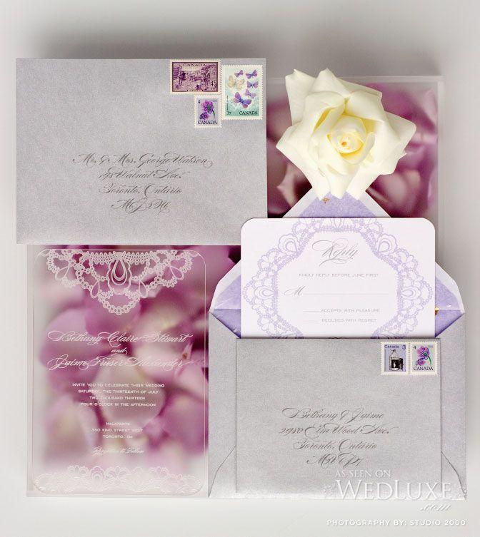silk box wedding invitations indian%0A Gorgeous Acrylic Wedding Invites