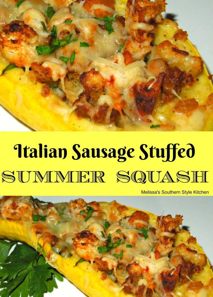 Italian Sausage Stuffed Summer Squash