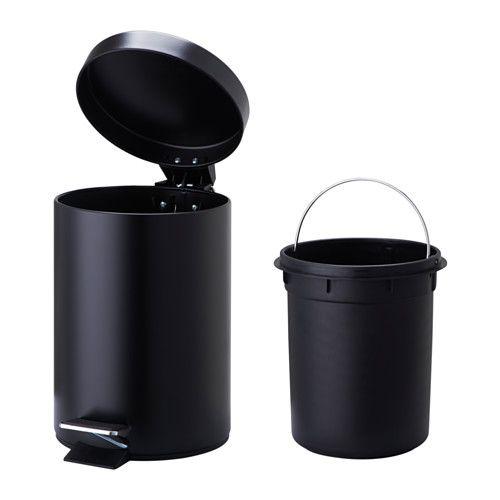 VORGOD ペダル式ゴミ箱 - ブラック - IKEA