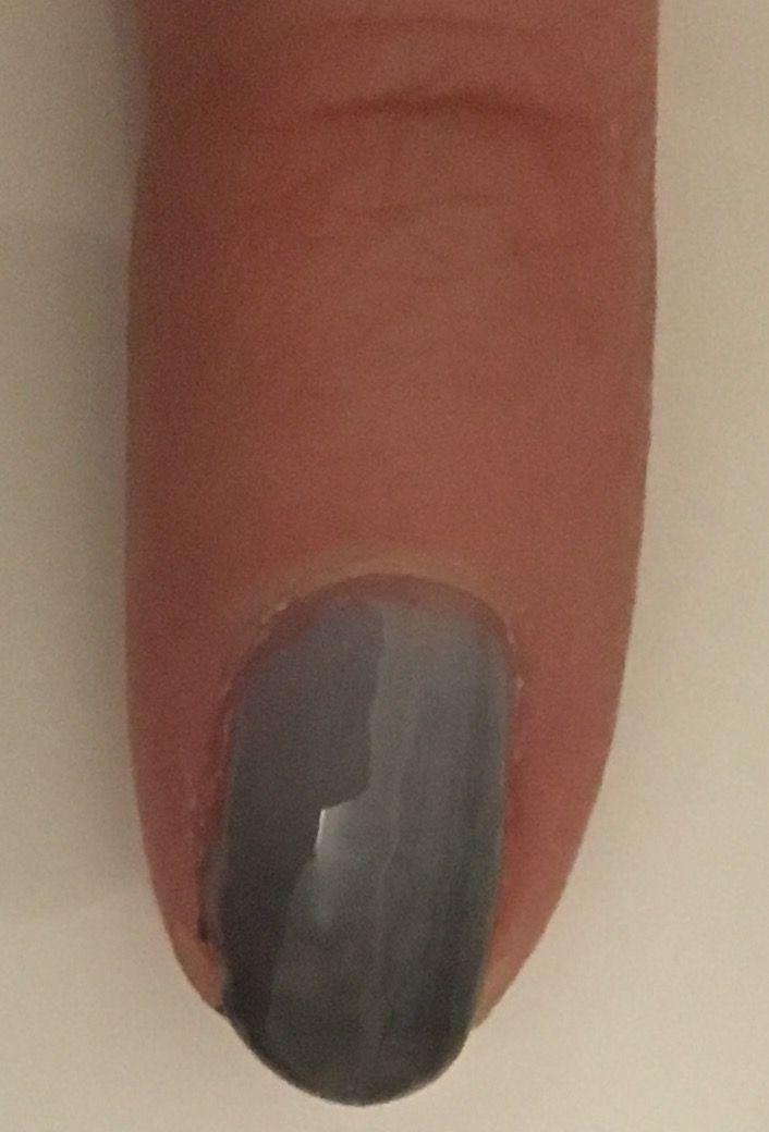 Grey gradient/ombre gel nails