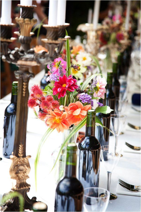 bold wedding flowers | Image by Lydia Taylor-Jones, read more http://www.frenchweddingstyle.com/80s-inspired-wedding-france/