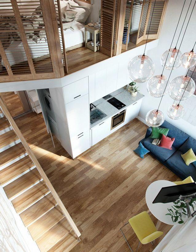 Petit Duplex Des Idees Deco Pour Amenager Un Petit Espace Elle