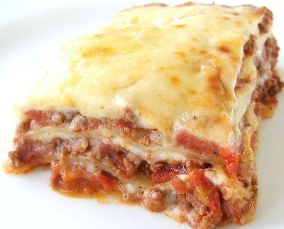 Lasaña casera de carne y setas. Ver Recetas: http://www.mis-recetas.org/recetas/show/10784-lasana-casera-de-carne-y-setas