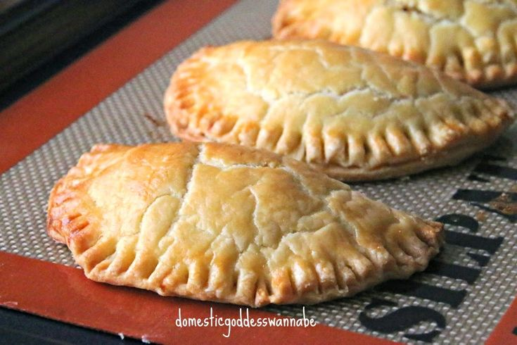 chicken and sweet corn pocket pies with cream cheese pastry dough ...