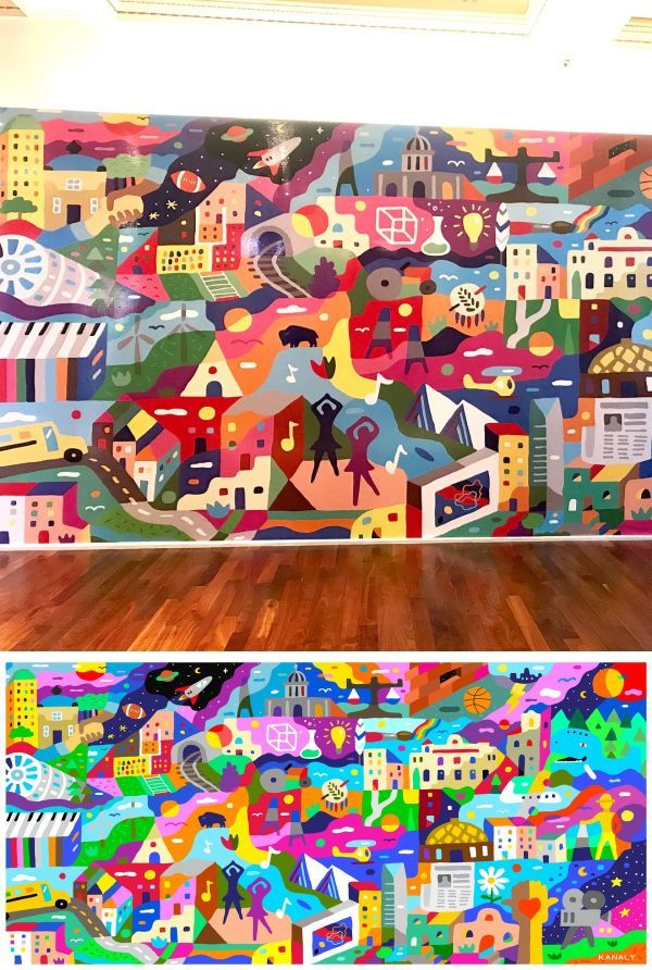 Murals Makerspace Mural In 2019 Wall Decor For Your Living Room