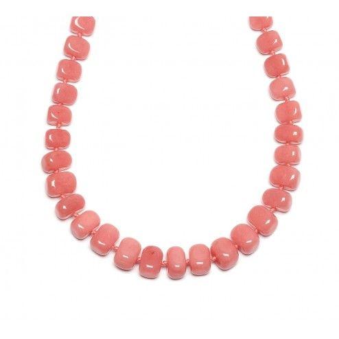 Lola Rose Bryson Pink Grace Quartzite Necklace at aquaruby.com