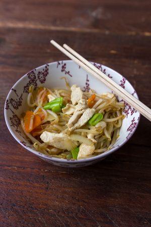 Recept: Chop choy met kip. Lekker met rijst en zoetzure saus.