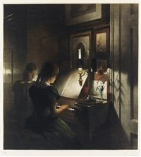 Evening by Peter Vilhelm Ilsted