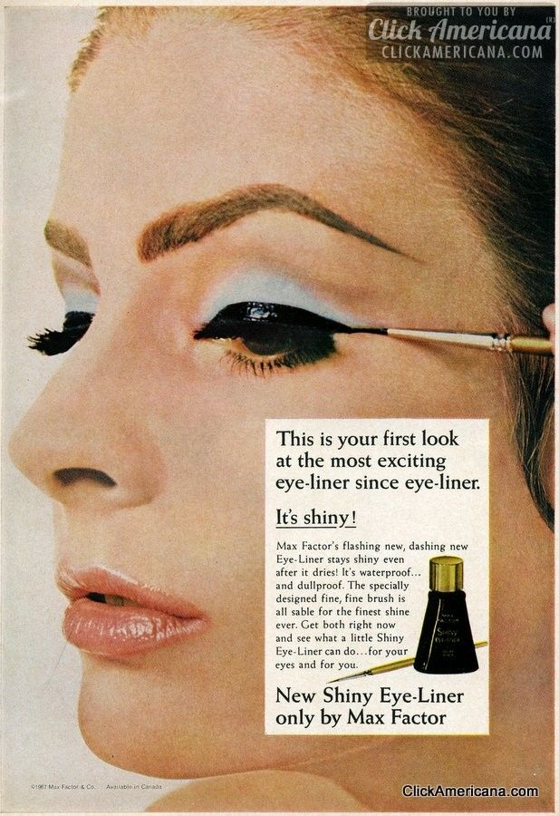 New Shiny Eye-Liner, only by Max Factor (1967) - Click Americana
