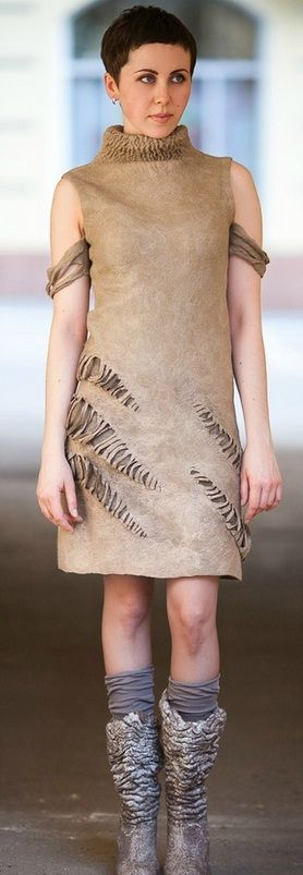 Diana Nagorna - felted dress