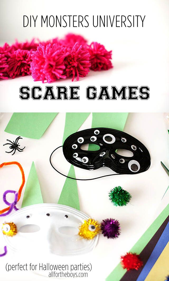 Kid Inspiration -  DIY Monsters University Scare Games #MonstersU #ad Fun games to play at a Halloween party or just for fun to celebrate the movie!