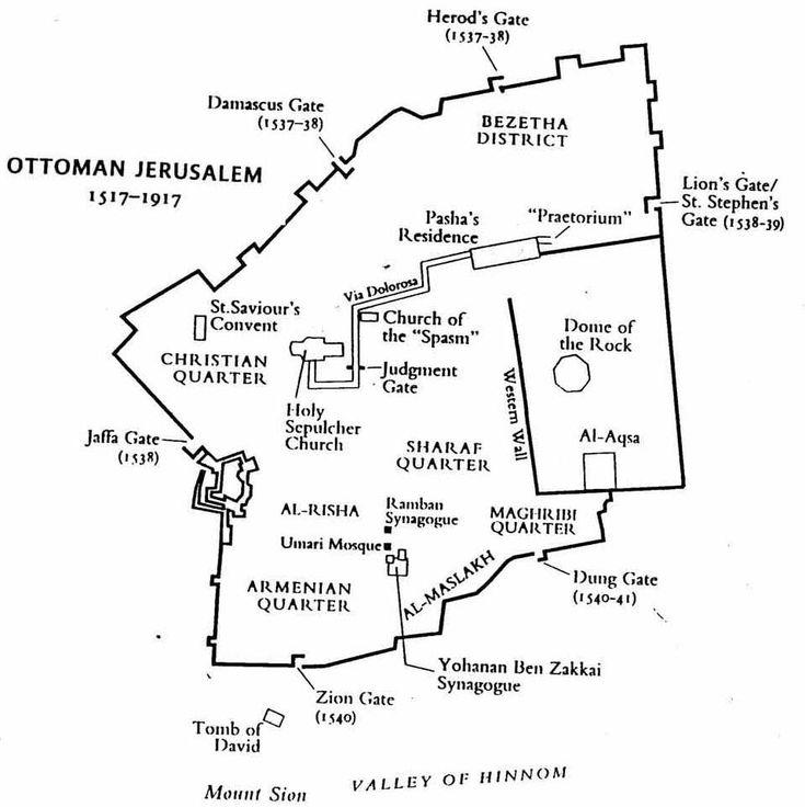 Ottoman Empire Turks Map Israel Palestine Map Of