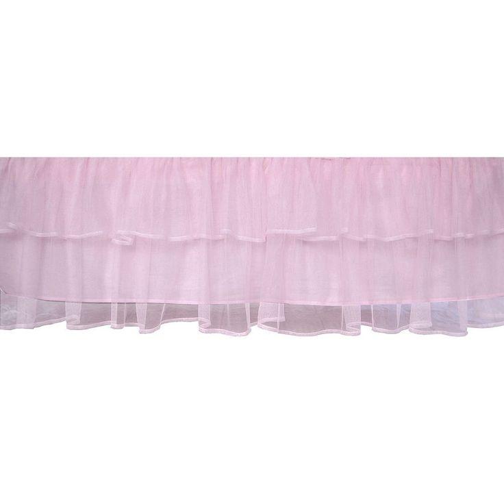 Tadpoles Tulle Crib Skirt - Pink