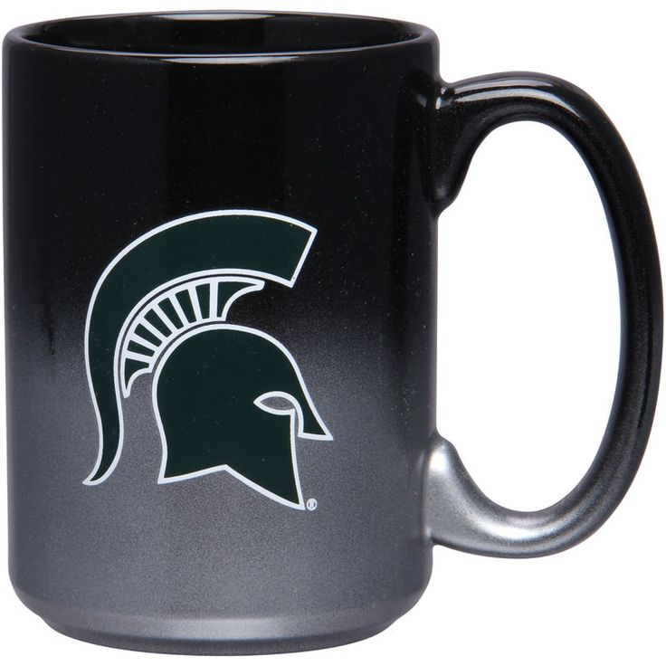Michigan State Spartans 15oz. Black/Chrome Two Tone Mug